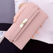 Fashion Multi-card Purse Long Wallet Litchi Pattern Ladies Clutch Bag