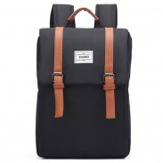 Retro Frosted Splicing Bag Belt Metal Lock Flap Simple Square School Backpack