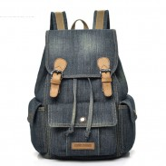 Retro Large Thick Canvas Bag Cowboy Three Pockets School Backpack