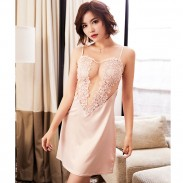 Elegant Multi-color Lace Nightdress Diamond Harness Sexy LingerieTransparent Halter Lingerie