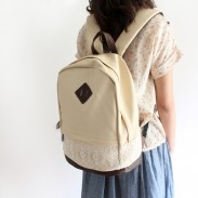 College Lovely Spliced Lace Backpack