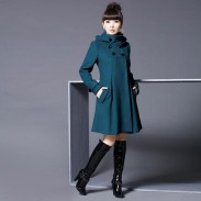 Leisure Long Cloak Shawl Large Slim Double Button Woolen Windbreaker Women Coat