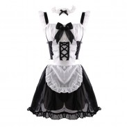 Sexy Maid Lace See-through Dress Lady Uniform Maid Costumes Nightdress Cosplay Lingerie