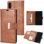Retro Crack Iphone Wallet Three Fold Mobile Phone Leather Case Clutch Bag