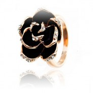 Retro Palace Rose Flower Women Open Ring