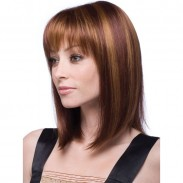 Fashion Middle-Long Straight Hair Bangs Women's Hair Wig