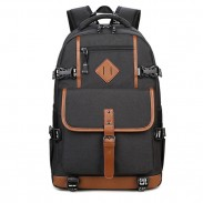 Leisure Oxford Cloth Waterproof Rucksack Computer Bag Large Outdoor Travel Men's Backpack