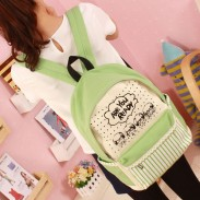 Fresh Lace Cartoon Canvas Computer Bag/Backpack/Schoolbag
