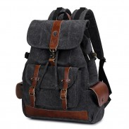 Retro Waterproof Student Backpack Large Outdoor Travel Canvas Rucksack