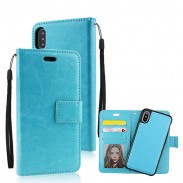 Iphonex Crazy Horse Pattern Multi-function Flip Wallet Mobile Phone Leather Case