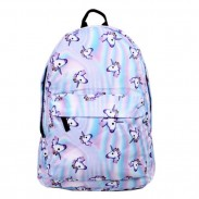 Cute Horse Head Gradient Laser Cartoon Animal School Backpack