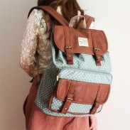 Lovely Dot Print Cover Leisure Backpacks