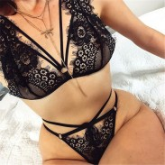 Sexy Unique Design Lace Bra Set Women Lingerie