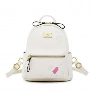 Cute Mini Embroidery Ice-Cream Love Cartoon Soft PU Small Student Backpack