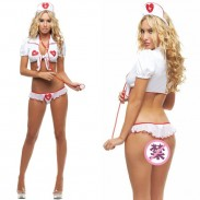 Sexy White Nurse Uniform Temptation Cosplay Women Lingerie
