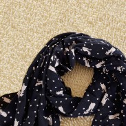Lovely Lovely Little Fox's Voile Infinity Scarf