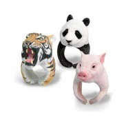 Super Lovely PVC 3D Animal shaped Tiger Panda Polar Bear Hedgehog Ring
