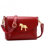 Retro Simple Horse Button Shoulder Bag