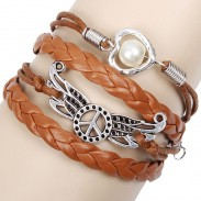Peace Wings Love Pearl Bracelets