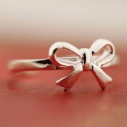 Fresh Bow Opening Silver Ring