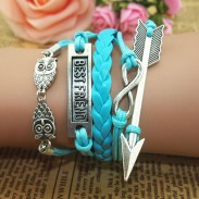 Lovely Owl Arrow Best Friend Infinity Bracelet