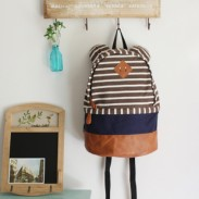 Lovely Bear Ear Strip Leisure Backpack
