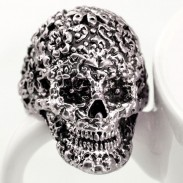 Punk Classic Carving Skull Ring