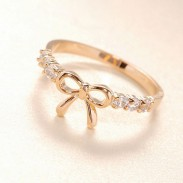 Lovely Lovely Rhinestone Bow Ring