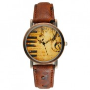 Retro Eiffel Tower Big Ben Piano Music Watch