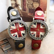 Retro Handmade British Flag Watches