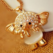 Lovely Hollow Elephant Sweater Necklace