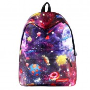 Cute Candy Cartoon Galaxy School Bag Starry Student Backpack