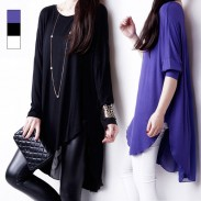 Spring Chiffon Blouse Loose Long-sleeved T-shirt