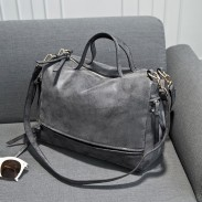 Fashion Punk Nubuck Leather Shoulder Bag