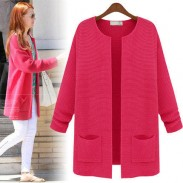 Pocket Long Sleeve Thin Cardigan Coat