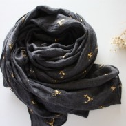 Warm Sided Gilt Deer Cotton Shawl Scarf