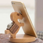 Practical Gift Lovely Wood Horse Mobile Phone Holder