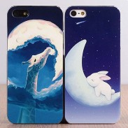 Lovely Rabbit Deer Moon Iphone4/5/6 Cases