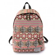 Harajuku Folk Style Elephant Geometry Printed School Bag Travel Backpack Rucksack