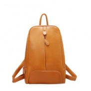 Casual Solid Simple Leather Pattern College Backpack