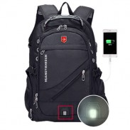 Strong Large Multi-functional Camping Bag Waterproof Black Outdoor Nylon Oxford Travel Backpack