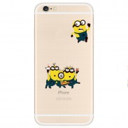 Minions Transparent Thin Soft Silica Gel Iphone Cases For 5/5S/6/6Plus