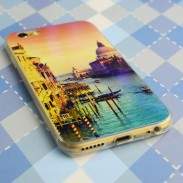 Laser Blue-Light Sky Lovers Transparent Soft Case For Iphone 5/5S/6/6Plus