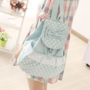 Summer Sweet Lovely Polka Dot Bow Backpacks