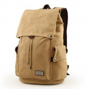Leisure Large Men's Canvas Drawstring Laptop School Bag Rucksack Travel Camping Backpack