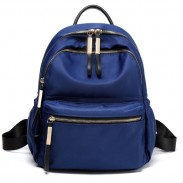 Leisure Pure Color Waterproof Oxford School Bag Simple Student Backpack