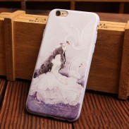 Lovely Aesthetic Girls Series Relief Silicone Soft Iphone Cases For 6/6Plus