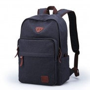Simple Leisure Large Travel Bag Canvas Men's Backpack