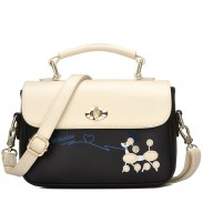 Cute Puppy Girls Cartoon Little Dog Contrast Color PU Shoulder Bag