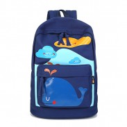 Lovely Lovely Smile Dolphin Clouds Pattern School Bag Travel Backpack Computer Rucksack